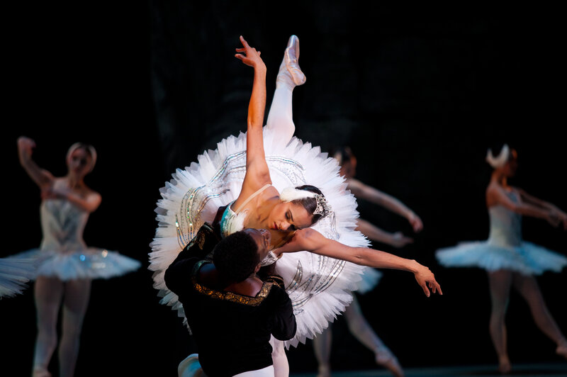 This is the first year that two African-American dancers will star in The Washington Ballet's production of Swan Lake: Misty Copeland, soloist with American Ballet Theatre, dances the dual role of Odette and Odile; Brooklyn Mack of The Washington Ballet is Prince Siegfried.