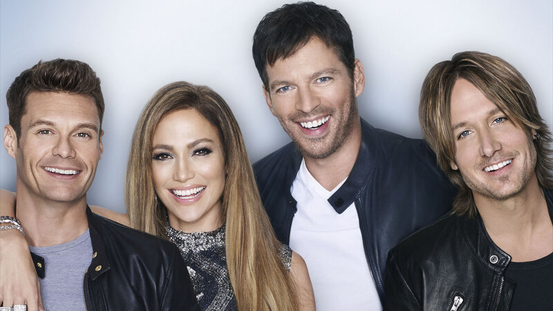 Ryan Seacrest, Jennifer Lopez, Harry Connick Jr., and Keith Urban.
