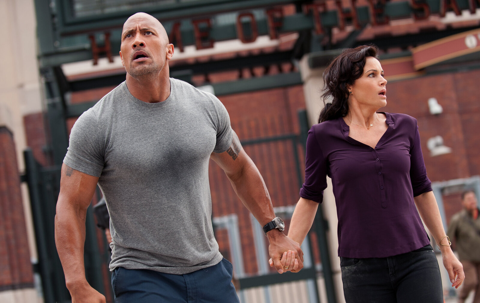 "Dwayne ""The Rock"" Johnson and Carla Gugino star in the action thriller San Andreas."