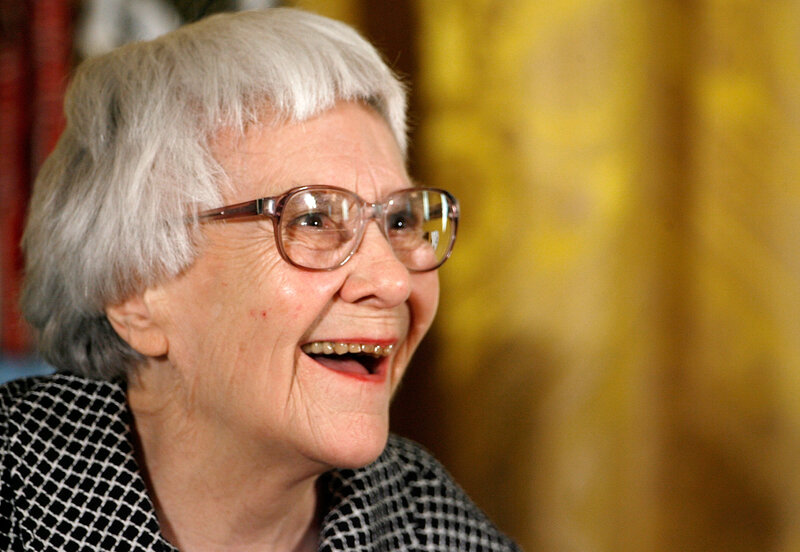 Pulitzer Prize winner and To Kill a Mockingbird author Harper Lee smiles before receiving the 2007 Presidential Medal of Freedom at the White House.