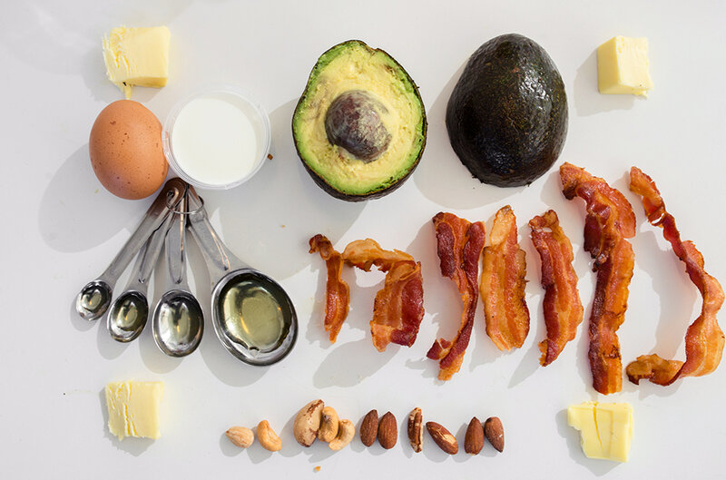 Foods that fit the ketogenic diet are high in fat and low in sugar.