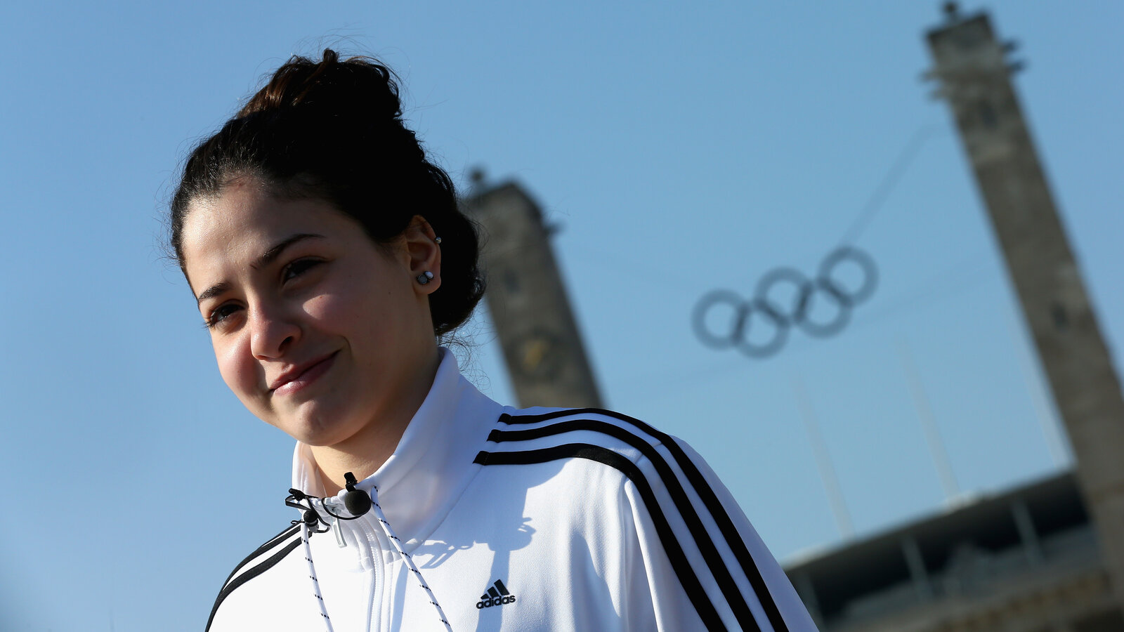 Yusra Mardini visits the Olympiapark Berlin on March 9. The 18-year-old Syrian refugee hopes to qualify for the Rio Olympics as a swimmer on the refugee team.