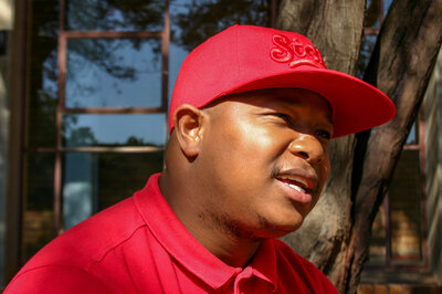 Sabelo Sekhukhuni is a counselor who helps run the AIDS prevention program in Soweto.