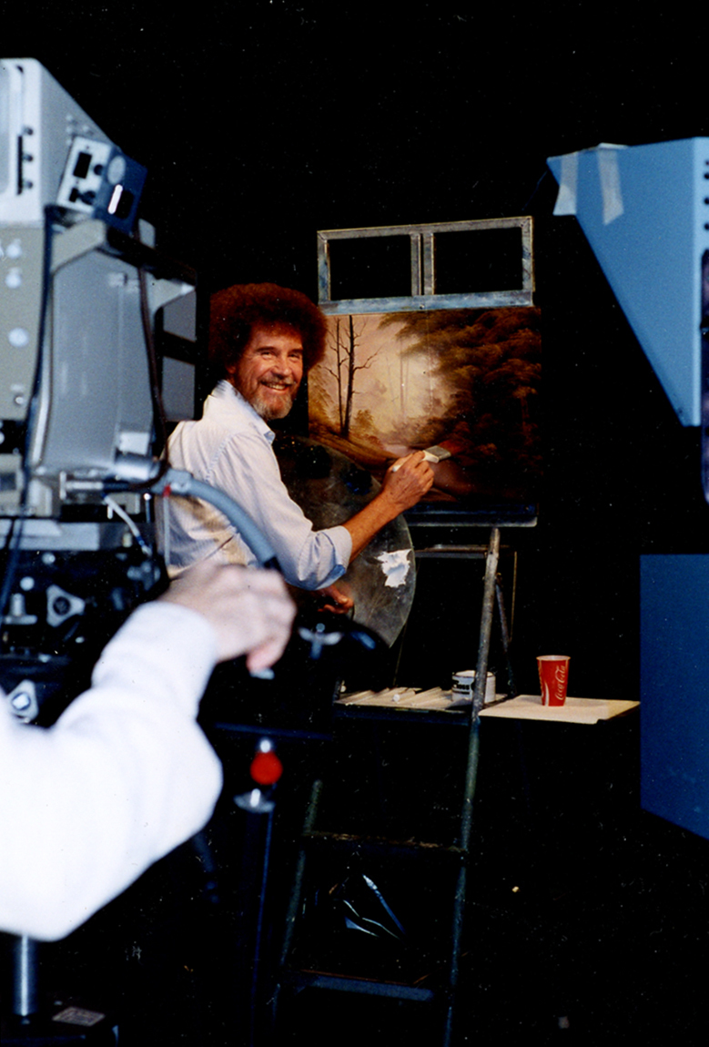 Real Bob Ross Meet Meticulous Artist