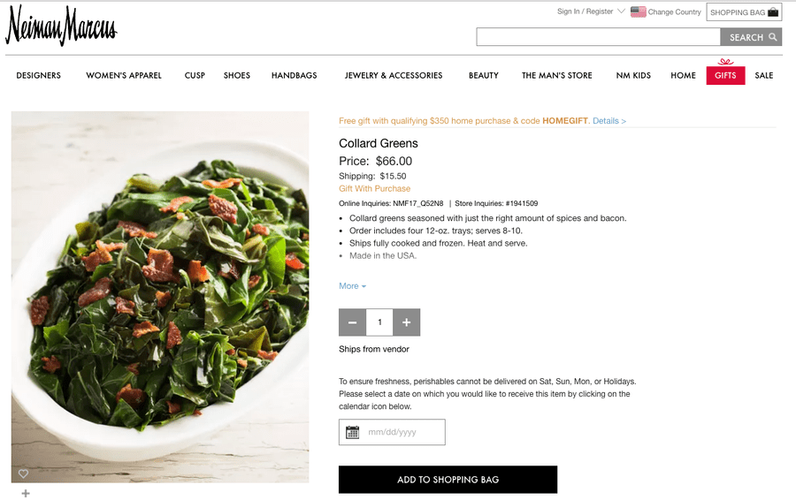 Image result for collard green from neiman marcus