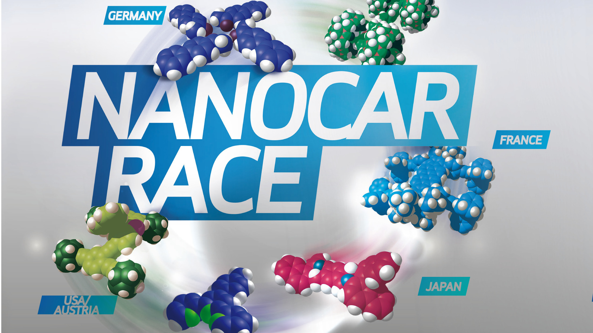 """The Nanocar Race, which happened over the weekend at Le centre national de la recherché scientific in Toulouse, France, was billed as the """"first-ever race of molecule-cars."""""""