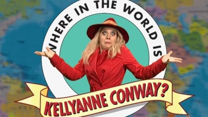 Kate McKinnon plays Kellyanne Conway on Saturday Night Live.