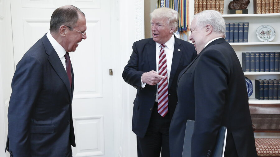 Image result for IMAGES OF TRUMP LAVROV AND KISLYAK