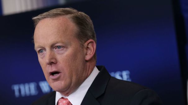 White House press secretary Sean Spicer spoke during a news briefing in June.