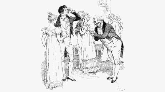 An 1894 engraving depicts chapter 18 of Jane Austen