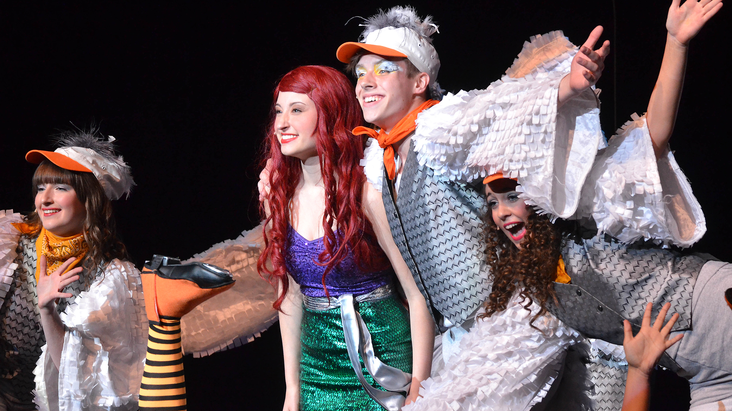 Students perform in The Little Mermaid, the sixth-most popular musical in the 2016-2017 school year.