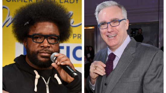 """""""How is [Keith] Olbermann on my side of the fence (politics) but not on my side (hip hop)?"""" The Roots"""