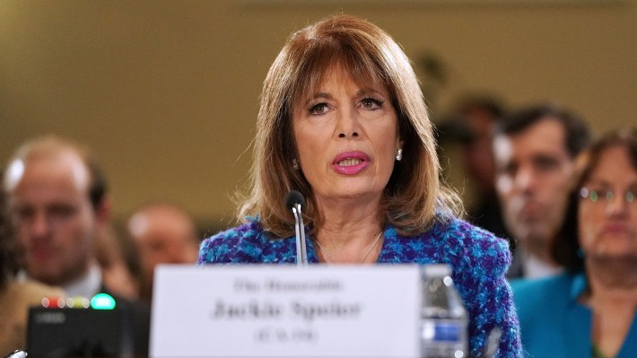 Rep. Jackie Speier, a Democrat from California testifies on Capitol Hill Tuesday and leveled accusations of sexual harassment against a current, unnamed congressman.