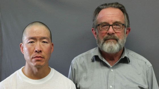 Wayne Lo (left) is serving two life sentences at a Massachusetts prison for killing two people, including Greg Gibson