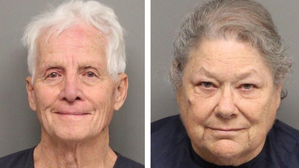 Patrick and Barbara Jiron were arrested in Nebraska last month while carrying 60 pounds of marijuana and again Tuesday on suspicion of transporting drug money.