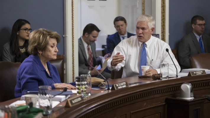 House Rules Committee Chairman Pete Sessions, R-Texas, and Rep. Louise Slaughter, D-N.Y., the top Democrat on the committee, will hold hearings on earmarks this week.