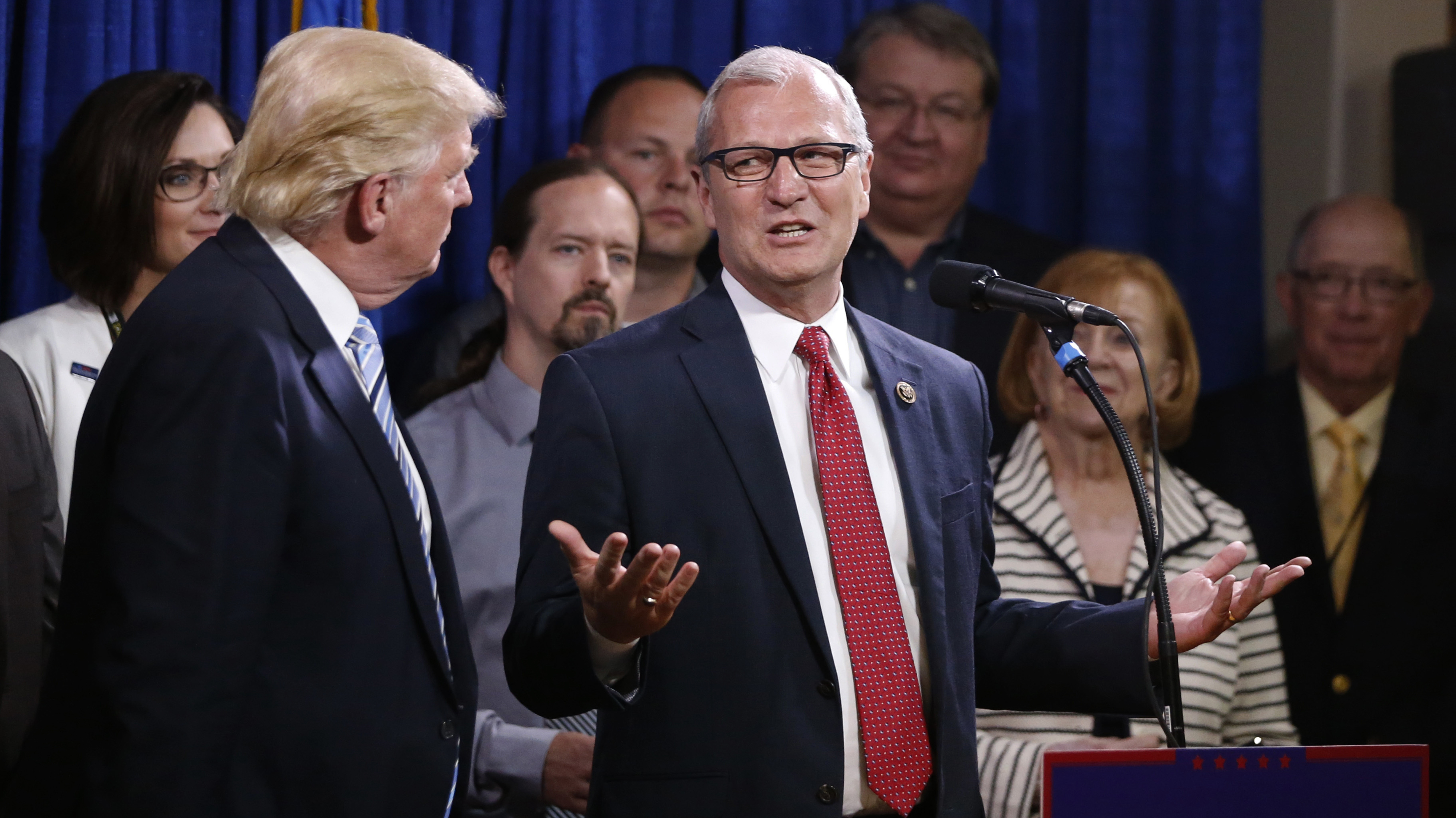 Rep., Kevin Cramer, R-N.D. talks in May 2016 about being one of the first to endorse then-Republican presidential candidate Donald Trump.