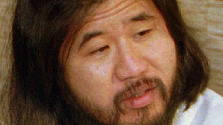 Japanese doomsday guru Shoko Asahara is seen in this Nov. 30, 1989 file photo in Bonn, Germany.