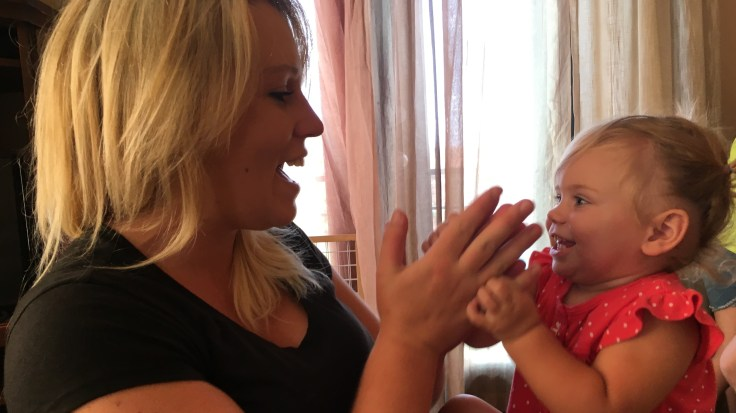 Victoria gave birth to her daughter Lili while in treatment for opioid dependency.
