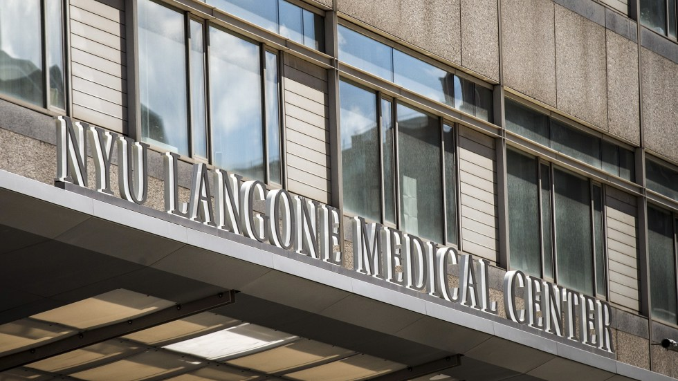 The New York University Langone Medical Center is seen in midtown Manhattan in 2015. The university