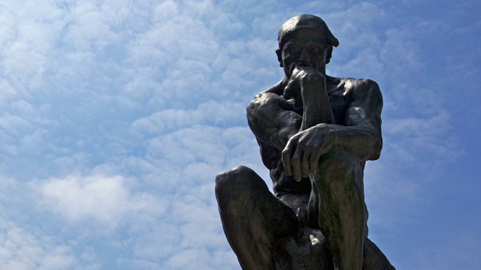 """A researcher showed people a picture of The Thinker in an effort to study the link between analytical thinking and religious disbelief. In hindsight, the researcher called his study design """"silly"""". The study could not be reproduced."""