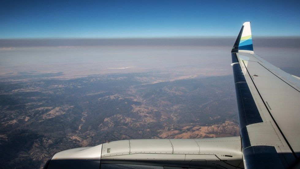A thick layer of smoke from the Carr Fire settles over California