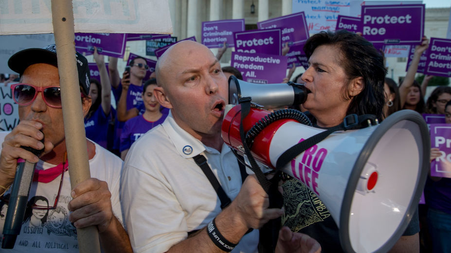 Protesters on both sides of the abortion debate demonstrated in front of the U.S. Supreme Court in July concerning Justice Brett Kavanaugh