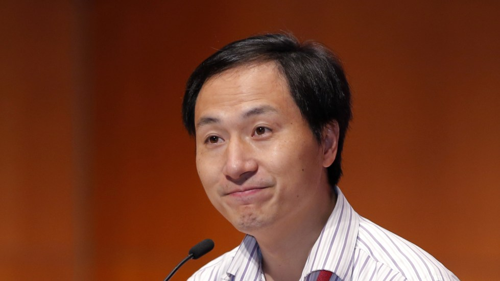 Chinese researcher He Jiankui spoke Wednesday during the Second International Summit on Human Genome Editing in Hong Kong.