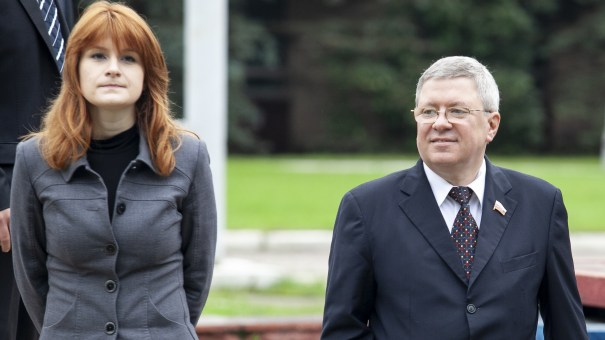 Maria Butina has reached a plea agreement with prosecutors after she was charged with being an unregistered foreign agent. Her onetime mentor, Alexander Torshin (right), is reportedly retiring.