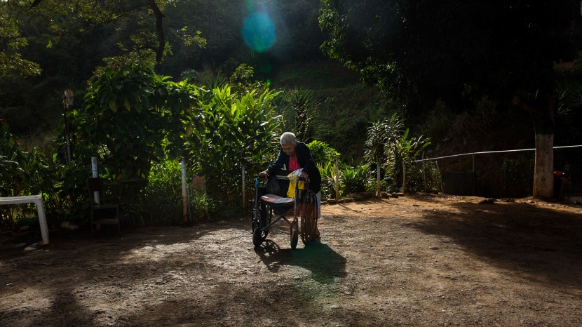 """A resident at the Mother Teresa of Calcutta senior home in Caracas. The people at the home were not reluctant to be photographed, says photojournalist Wil Riera: """"They want to share their history, to have a voice."""""""