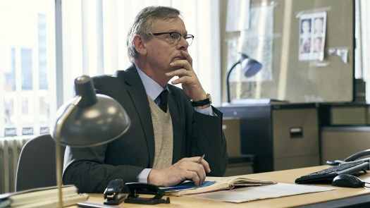 Martin Clunes plays Detective Chief Inspector Colin Sutton in the Acorn TV miniseries Manhunt.