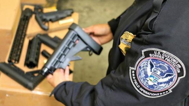 U.S. Customs and Border Protection intercepted and seized 52,601 illegal firearms parts from China in recent months.