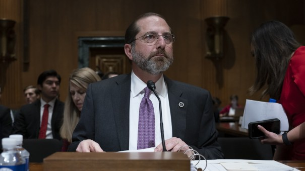 A federal appeals court has upheld a ruling that blocked work requirements in Arkansas and in Kentucky, which has since rescinded them. Secretary of Health and Human Services Alex Azar is seen testifying before the Senate Finance Committee on Thursday.