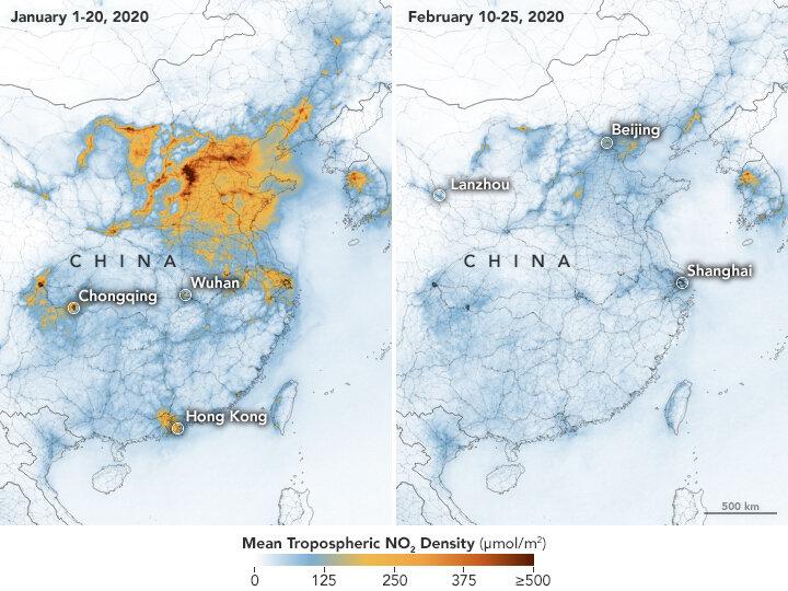 Air Pollution in China Drops Dramatically During Coronavirus ...