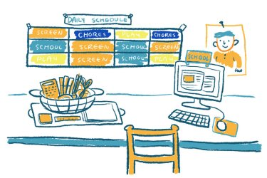 Comic: How To Home School During The Coronavirus School Closures : NPR