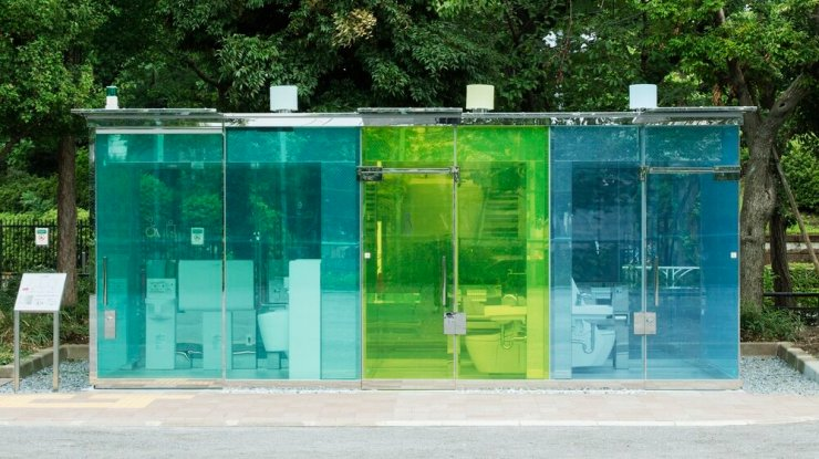 The Transparent Public Toilets That Offer Privacy. 10