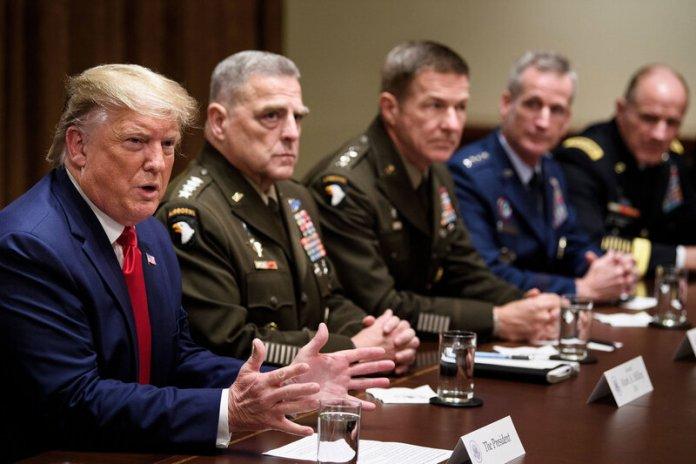 Trump's Attacks Put Military In 'Presidential Campaign Minefield' : NPR