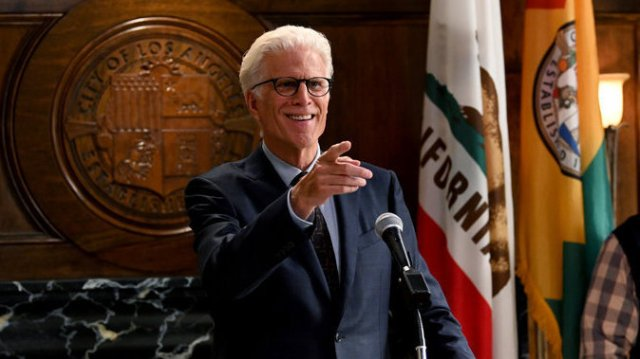 Ted Danson plays a retired millionaire who becomes mayor of Los Angeles in Mr. Mayor.