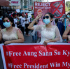 U.S. 'Stands With The People,' Imposes Sanctions On Myanmar's Coup Leaders