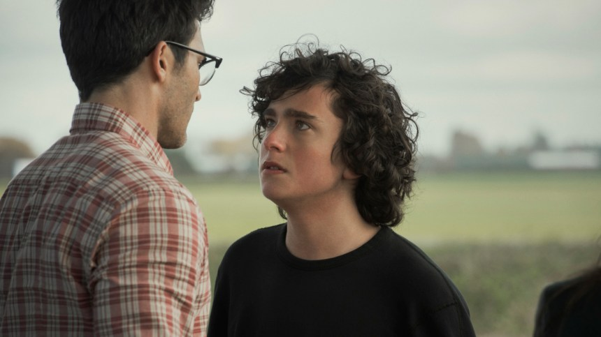 Clark Kent has a tense moment with his son Jordan in the CW