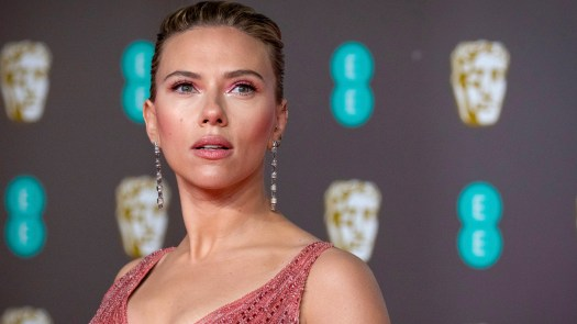 Scarlett Johansson arrives at the BAFTA Film Awards in London last year. She is suing Disney over the company