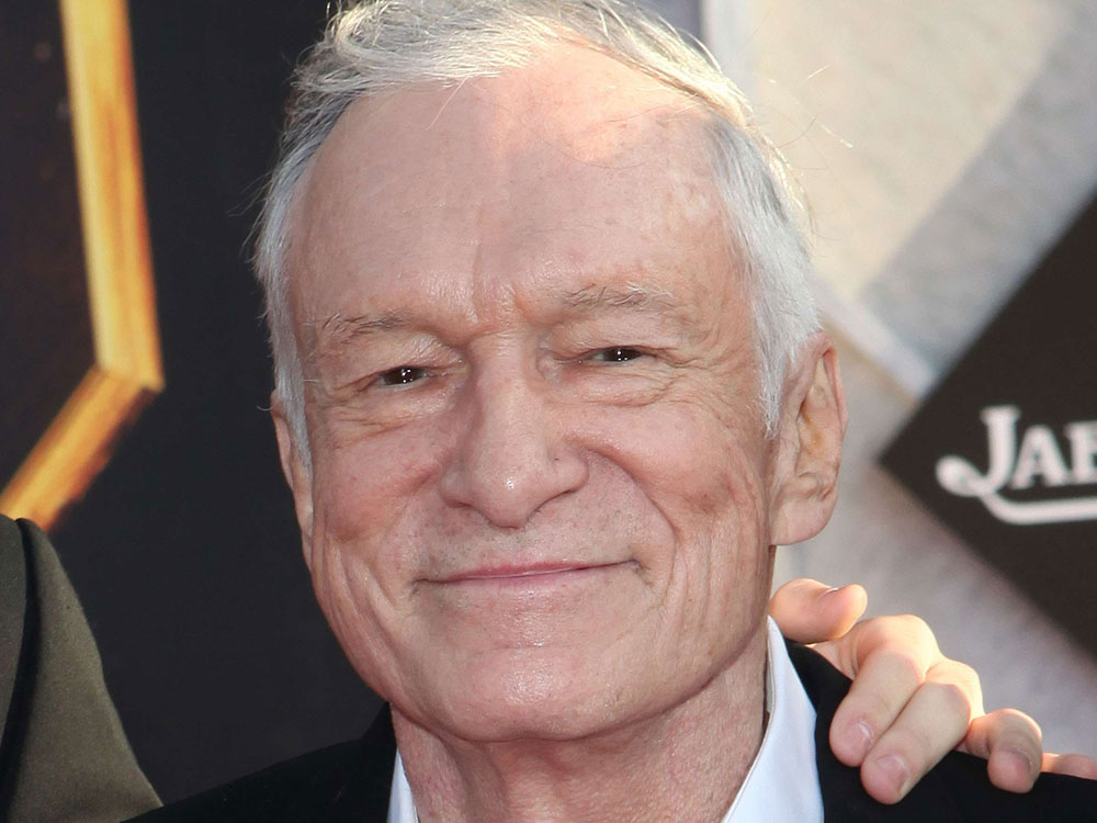 Hugh Hefner arrives at the premiere for 'Iron Man 2' on Monday in Hollywood, Calif.