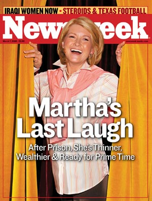Newsweek Photo Illustration of Martha Stewart Stirs Debate  NPR