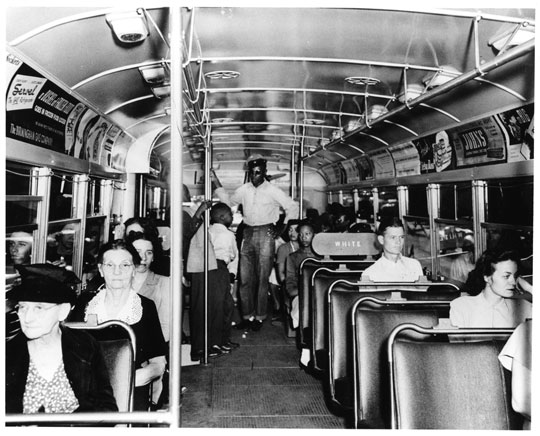 A segregated bus