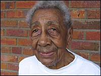 Clarice Morant died at 104. In this 2006 picture, she stands outside of her Washington, D.C., home, where she cared for her elderly brother and sister.