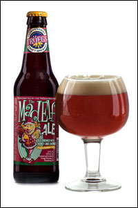 Mad Elf Beer Bottle and glass.