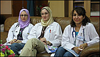 Medical students in a Baghdad hospital.