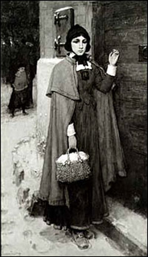 Hester Prynne in an illustration for an 1881edition of the book.