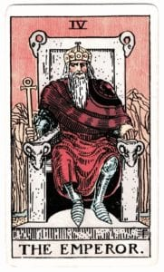 The Emperor Tarot Birth Card from the Rider-Waite Deck