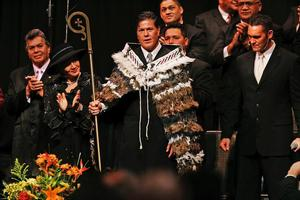 "Brian Tamaki and pastors get ""love offerings"" in cash from members. Photo / Herald on Sunday"